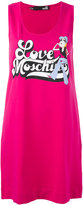 Love Moschino logo print tank dress