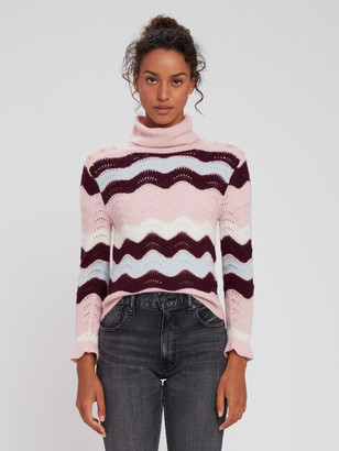LoveShackFancy Dixie Alpaca Wool Turtleneck Sweater