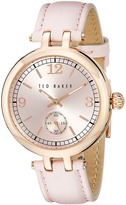 Ted Baker Smart Casual Collection Custom Leather Strap Watch