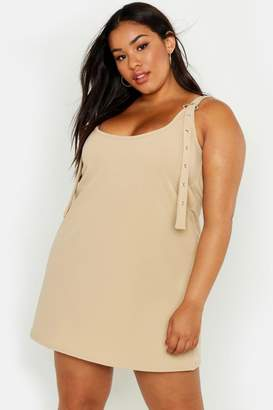 boohoo Plus Scoop Neck Pinafore Dress
