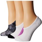 Converse Chucks Blurring Lines 3-Pair Pack Women's No Show Socks Shoes
