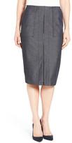 Halogen Zip Front Midi Skirt
