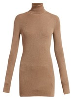 Bottega Veneta Ribbed Roll-neck Cashmere Sweater - Womens - Camel