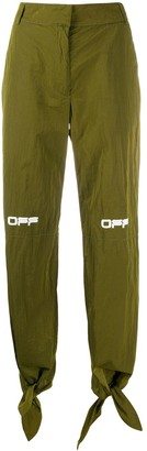 Off-White Technical Fabric Knotted Trousers