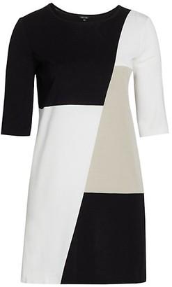 Misook, Plus Size Colorblock Knit Sheath Dress