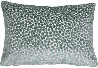 The Piper Collection Pebbles 14x20 Lumbar Pillow - Teal Velvet