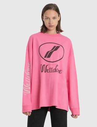 we11done Print Logo Long Sleeve T-Shirt