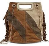 Maje Vendome Fringed Suede Shoulder Bag