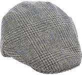 Christy Christys' Balmoral Wool Houndstooth Flat Cap, Grey/Black