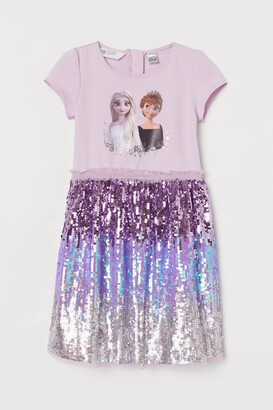 H&M Sequined Printed Dress - Pink