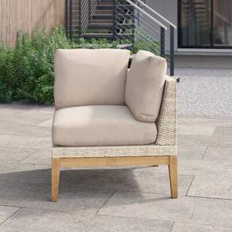 "Foundstoneâ""¢ River Patio Chair with Cushions Foundstonea Cushion Color: Dupione Cornsilk"