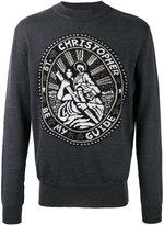 Christopher Kane Saint Christopher sweater - men - Polyamide/Polyester/Mohair/Metallic Fibre - M