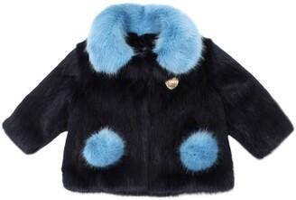 Bandits Girl Two Tone Faux Fur Coat