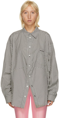 Balenciaga Black and White Houndstooth Swing Shirt