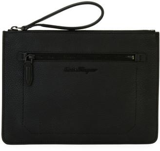 Salvatore Ferragamo Men's Medium Leather Portfolio Case