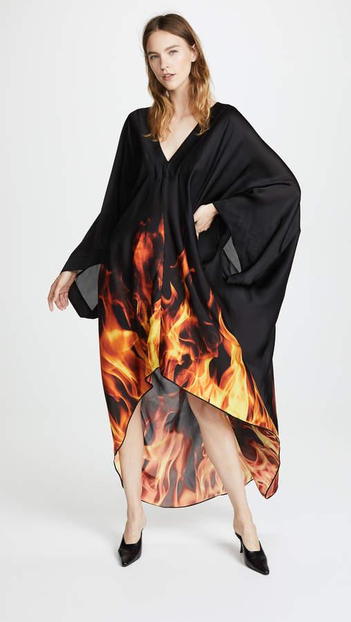 Gareth Pugh Kaftan Flame Dress
