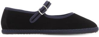 Vibi Venezia 10mm Mary Jane Velvet Loafers