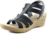 Bella Vita Ravenna Women N/s Open Toe Canvas Wedge Sandal.