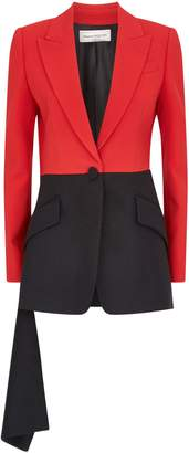 Alexander McQueen Draped Two-Tone Jacket