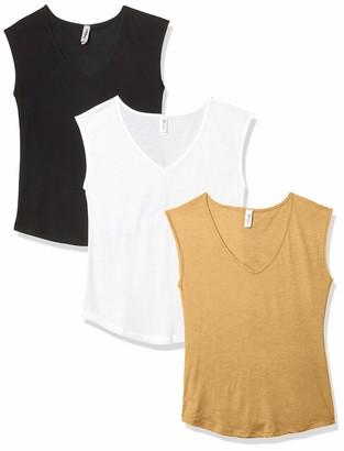 Marky G Apparel Women's Festival Sleeveless V-Neck T-Shirt (Pack of 3)