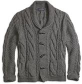 Brooks Brothers Handknit Shawl Collar Cable Cardigan