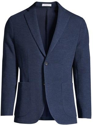 Boglioli Regular-Fit Single-Breasted Wool & Silk Knit Jacket