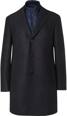 HUGO BOSS Wool-Blend Coat With Detachable Shell Gilet