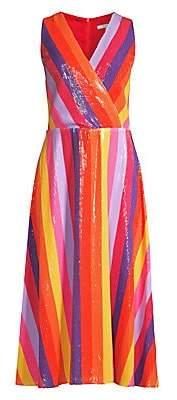 Olivia Rubin Women's Thea Sequin Stripe Wrap Dress