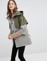 Sisley Contrast Parka Coat