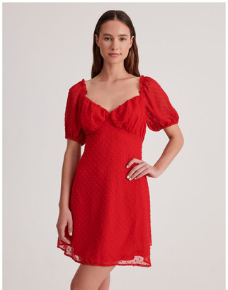 Missguided Milkmaid Skater Dress Dobby