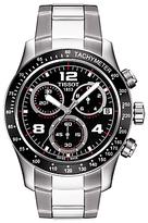 Tissot T0394171105702 V8 Chronograph Date Bracelet Strap Watch, Silver/black