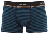 Paul Smith - Artist Stripe Trimmed Stretch Cotton Boxer Briefs - Mens - Blue Multi