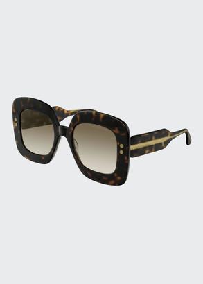 Bottega Veneta Oversized Square Acetate Sunglasses