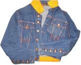 Jean Paul Gaultier Navy Cotton Leather Jacket for Women Vintage