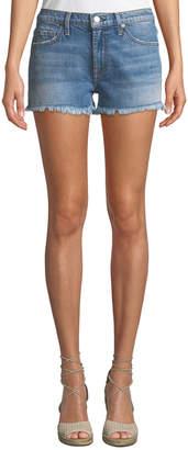 7 For All Mankind Embellished Cutoff Denim Shorts