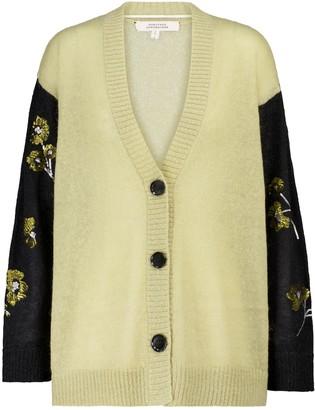 Dorothee Schumacher Fluffy Flora sequined mohair-blend cardigan
