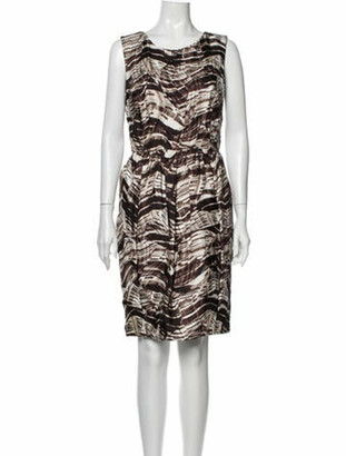 Oscar de la Renta 2010 Knee-Length Dress Brown