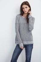 Adarah Stripe Sheer Cashmere Sweater
