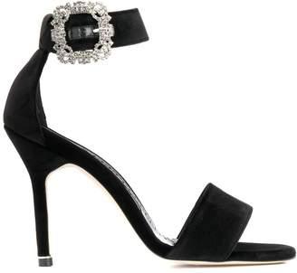 Manolo Blahnik Sanghal jewel-buckle sandals