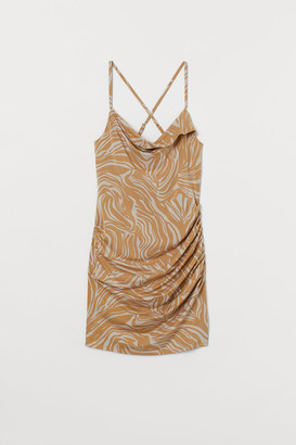 H&M Draped Mini Dress - Beige