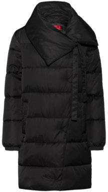 HUGO Regular-fit water-repellent puffer coat with oversized collar