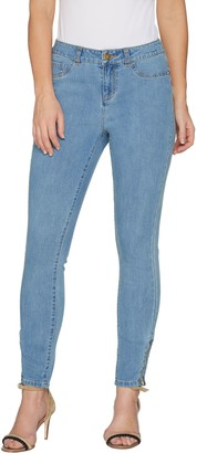 G.I.L.I. Got It Love It G.I.L.I. Petite Washed Denim Ankle Zip Jeans