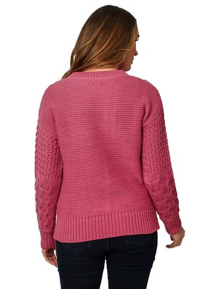 Joe Browns Cable Knit Jumper- Pink