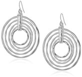 Robert Lee Morris Layered Hammered Sculptural Rings Drop Earrings