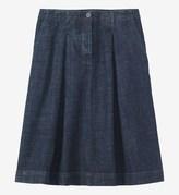 Toast Stretch Denim Pleat Front Skirt