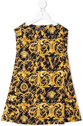 Versace Filigree Print Dress