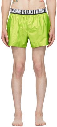 Versace Underwear Green Versace LHomme Swim Shorts
