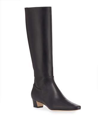 Manolo Blahnik Theseus Leather Knee Boots