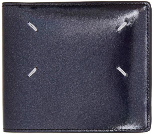Maison Margiela (メゾン マルジェラ) - Maison Margiela ブラック メタリック パテント ウォレット