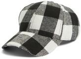 BP Women's Buffalo Check Baseball Cap - Black